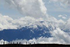 Canigou峰顶在比利牛斯 免版税库存照片