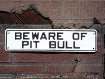 Canine Caution Stock Image