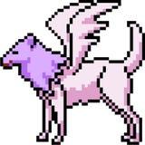 Canino Pegaso di arte del pixel di vettore illustrazione di stock