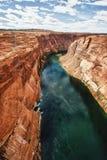 Canion bij de Dam van de Nauwe vallei in Pagina, Arizona stock foto