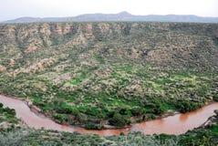 Canion bij Vol Nationaal Park (Ethiopië) stock afbeeldingen