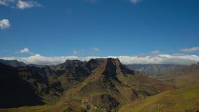 Canion, Gr Mirador DE Fataga, Gran Canaria stock footage