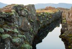 Canion in het park van IJsland Stock Afbeelding