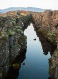 Canion in het park van IJsland Royalty-vrije Stock Afbeeldingen