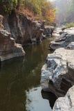 Canion op de rivier Stock Foto