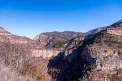 Canion Rio Leza fotos de archivo