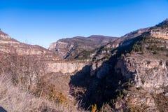 Canion Rio Leza Arkivbild