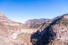 Canion Rio Leza. Amazing view of the Canion Rio Leza from spain Royalty Free Stock Photography