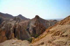 Canion Tunesië, Afrika stock afbeeldingen