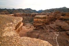 Canion van de Charyn-Rivier stock fotografie