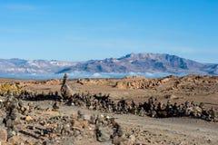 Canion van de Colca-Rivier in zuidelijk Peru Stock Foto