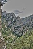Canion van Pierre Lys in de Pyreneeën, Frankrijk stock foto