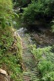 Caniondoorbraak in Slowaaks Paradijs Stock Fotografie