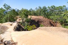 Canionheuvel in landelijk Thailand Stock Foto
