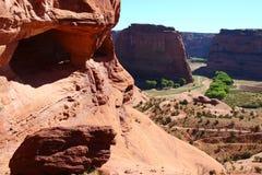 Canionlandschap op Indisch heilig grondgebied stock foto's