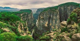 Canionlandschap van Manvgat, Antalya, Turkije Tazicanion, Bilgelik Vadisi royalty-vrije stock afbeelding