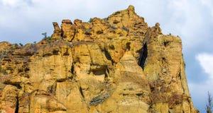 Canionsleep in Smith Rocks State Park, een populair bergbeklimmingsgebied in centraal Oregon dichtbij Terrebonne royalty-vrije stock foto