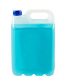 Canister with blue liquid Stock Photo