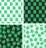 Canister for Gas or Oil Aligned & Random Seamless Pattern Green Color Set. This image is a illustration and can be scaled to any size without loss of Royalty Free Stock Images