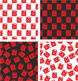 Canister for Gas or Oil Aligned & Random Seamless Pattern Red Color Set. This image is a illustration and can be scaled to any size without loss of Stock Image