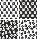Canister for Gas or Oil Aligned & Random Seamless Pattern Set. This image is a illustration and can be scaled to any size without loss of resolution Stock Photography