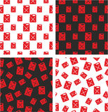 Canister for Gas or Oil Big & Small Aligned & Random Seamless Pattern Red Color Set. This image is a illustration and can be scaled to any size without Royalty Free Stock Image