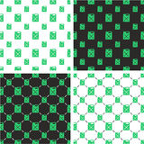 Canister for Gas or Oil Big & Small Seamless Pattern Green Color Set. This image is a illustration and can be scaled to any size without loss of resolution Stock Photography