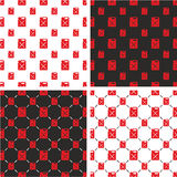 Canister for Gas or Oil Big & Small Seamless Pattern Red Color Set. This image is a illustration and can be scaled to any size without loss of resolution Royalty Free Stock Image