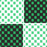 Canister for Gas or Oil Seamless Pattern Green Color Set. This image is a illustration and can be scaled to any size without loss of resolution Stock Image