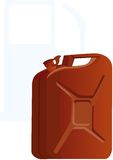Canister of gasoline Stock Photos