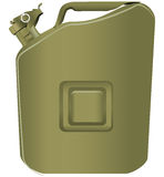 Canister of gasoline Royalty Free Stock Photos