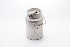 Canister for milk. Canister milk old technology of aluminum Royalty Free Stock Photo