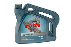 Canister motor oil Stock Photography