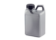Canister with oil. auto parts Royalty Free Stock Photo