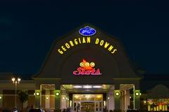 Caniveau et casino géorgiens de bas Image libre de droits