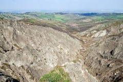 Caniveaux dans les collines d'Imola Images libres de droits