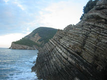 Canj rocks. Rocks at the coast of Canj, Montenegro Stock Image