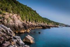 Canj strand Montenegro Arkivbilder