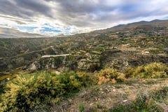 Canjayar, Almería, Las Alpujarras, Spain. Landscape with agriculture on terraces near Canjayar on the edge of Alpujarras Stock Photos