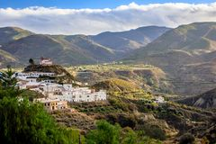 Canjayar, Almería, Las Alpujarras, Spain. Canjayar is situated in Spain, in the Andalucia region where it is within Almeria Royalty Free Stock Photo