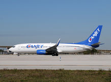 Canjet passenger airplane Stock Images
