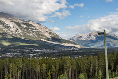 Canmore in afternoon from The Nordic Centre Royalty Free Stock Photography