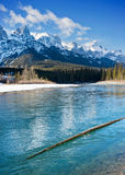 Canmore. Beautiful day walking around  Canmore, Alberta Royalty Free Stock Image