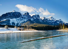 Canmore. Beautiful day walking around  Canmore, Alberta Royalty Free Stock Images