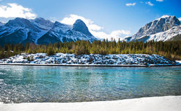Canmore. Beautiful walk around canmore,  Beautiful Alberta Royalty Free Stock Image