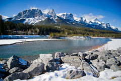 Canmore. Beautiful walk to canmore, Canadian Rockies Stock Images