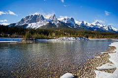 Canmore. Beautiful winther day canmore,   Alberta Royalty Free Stock Photos