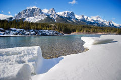 Canmore. Beautiful winther day to Canmore, Alberta Stock Photo