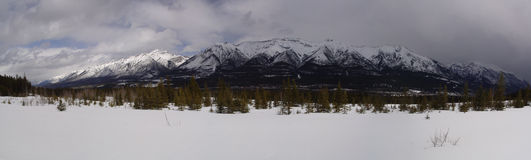 Canmore Mountains Stock Image
