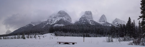 Canmore Panorama Royalty Free Stock Images
